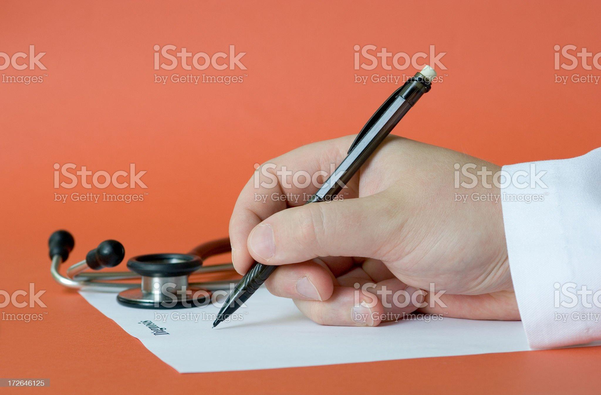 Diagnosis royalty-free stock photo