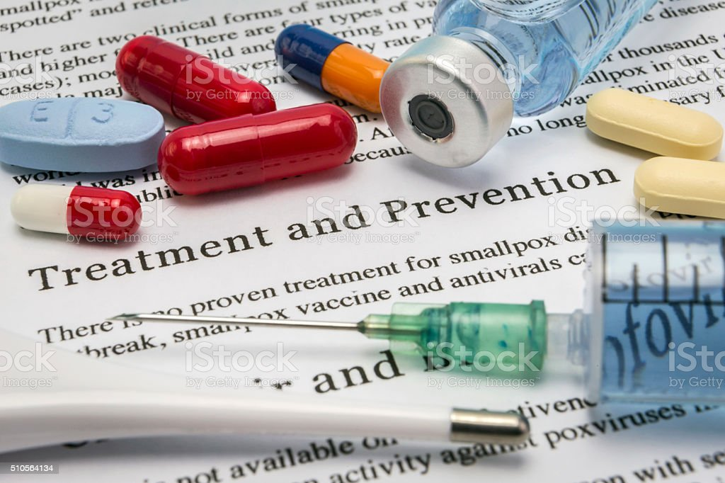 Diagnosis - Treatment and prevention. Medical Report with Compos stock photo