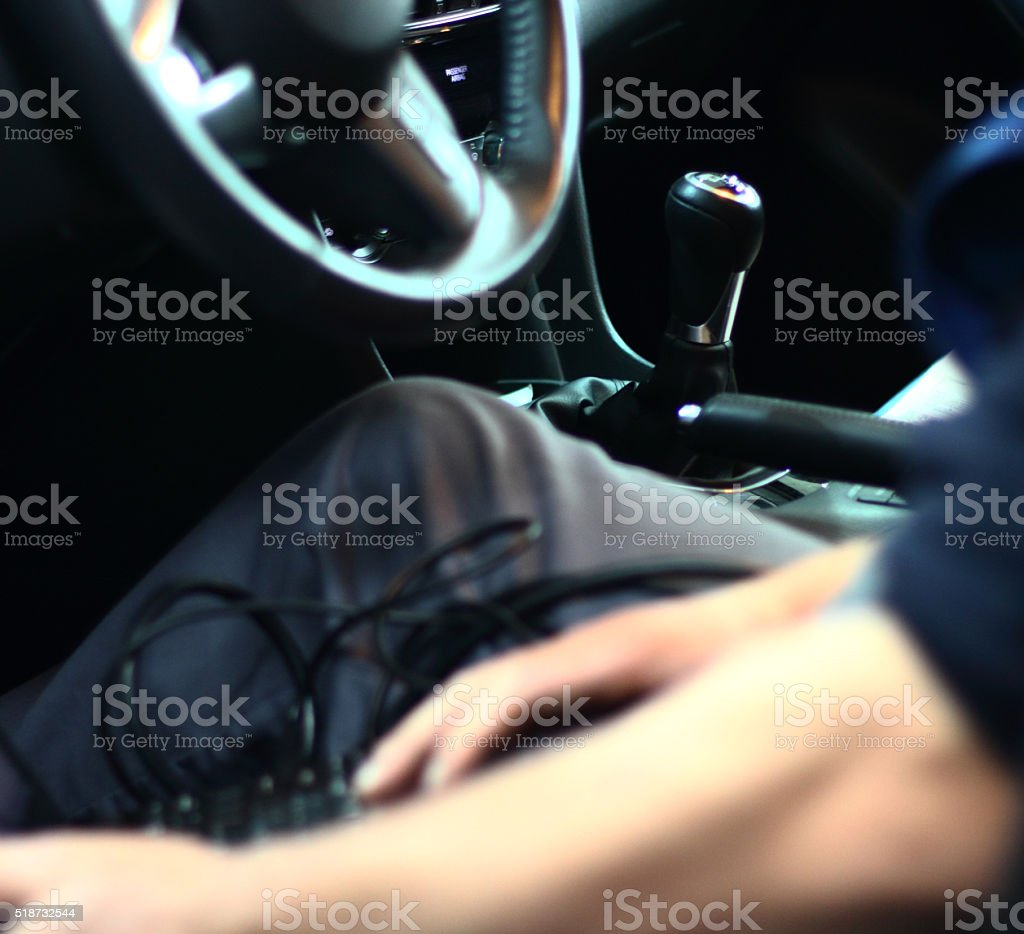 Diagnostic car computer stock photo