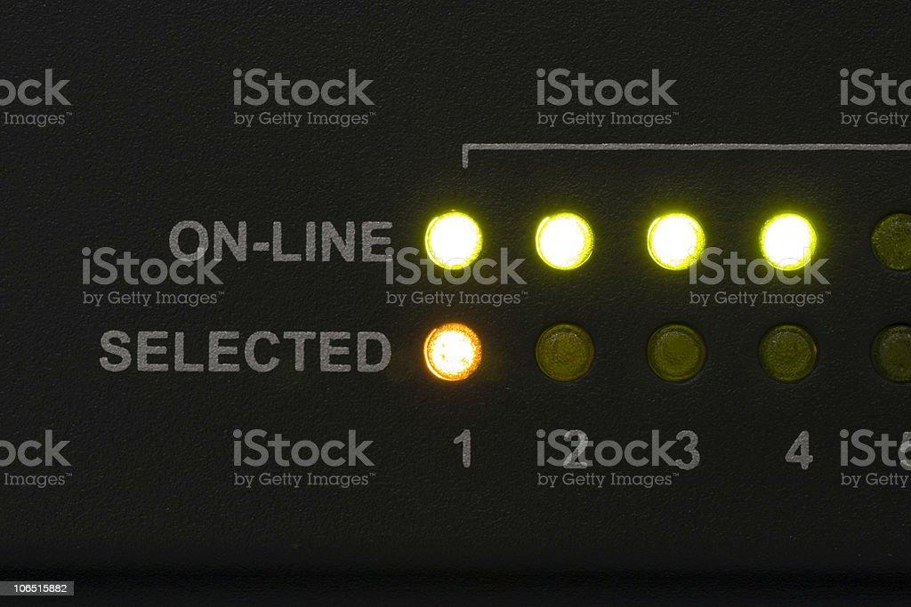 Diagnostic LEDs stock photo