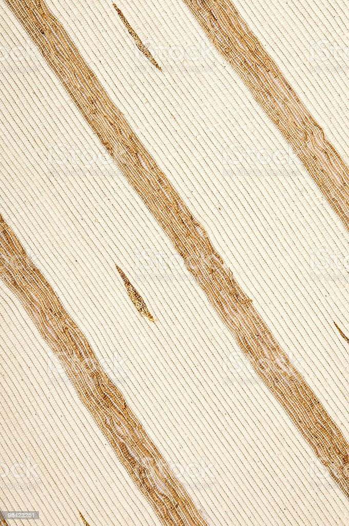 Diagonal Brown Gold Stripe Textile Patern royalty-free stock photo