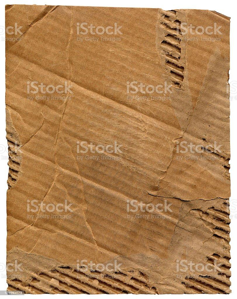 Diagonal Cardboard Rip Background royalty-free stock photo