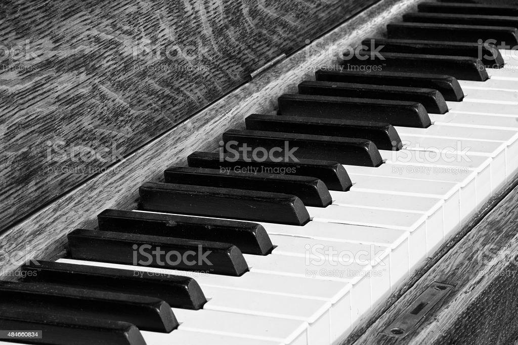 Diagonal de touches de Piano gros plan photo libre de droits