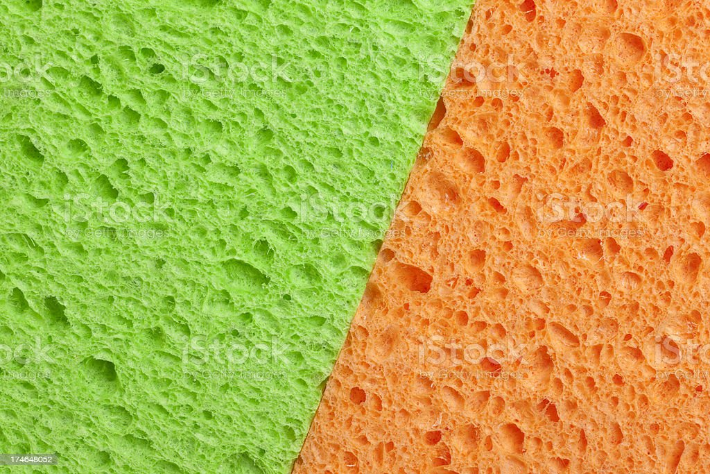Diagonal Green and Orange Background, Copyspace, Abstract stock photo