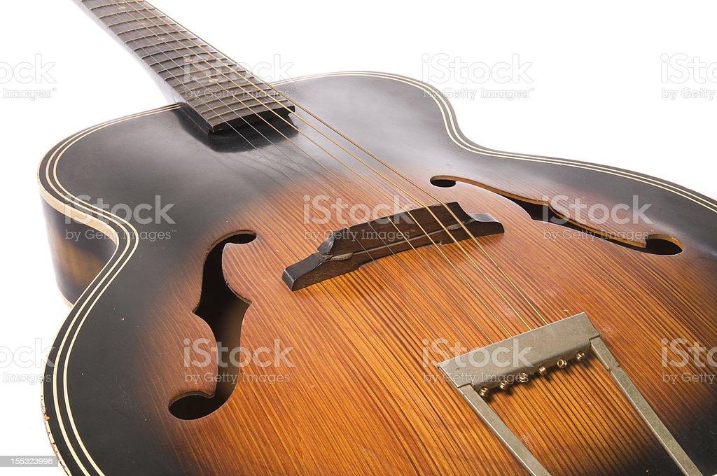 Diagonal guitarra foto royalty-free