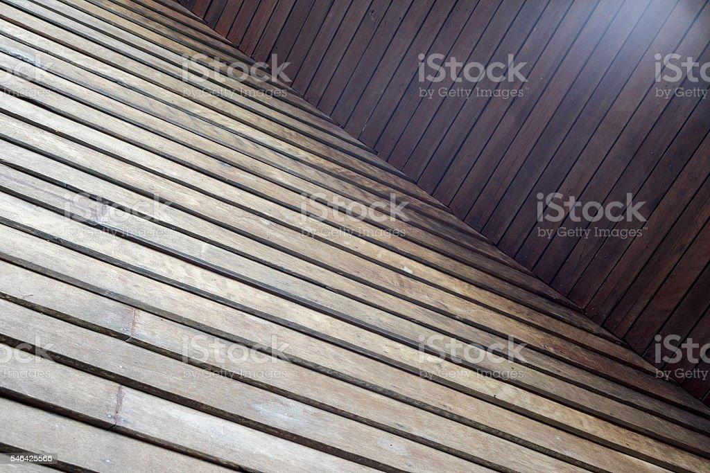 Diagonal lines of wooden wall photo libre de droits
