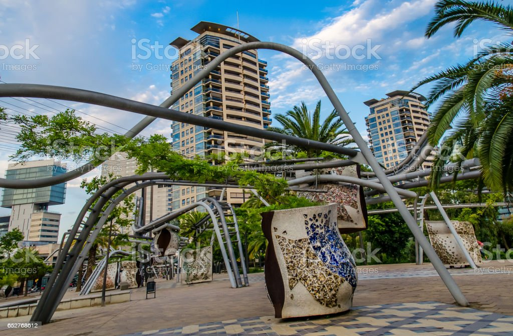 Diagonal Mar Park stock photo