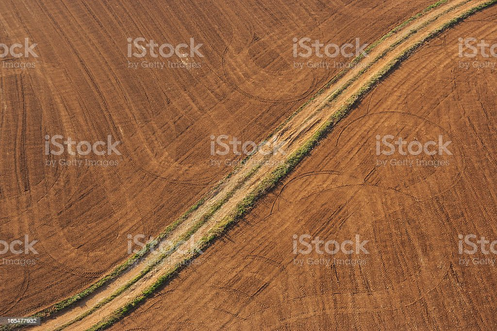 diagonal path field royalty-free stock photo