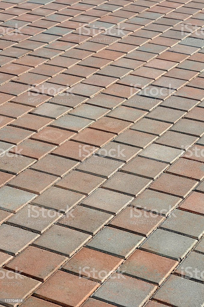 Diagonal Pavers royalty-free stock photo