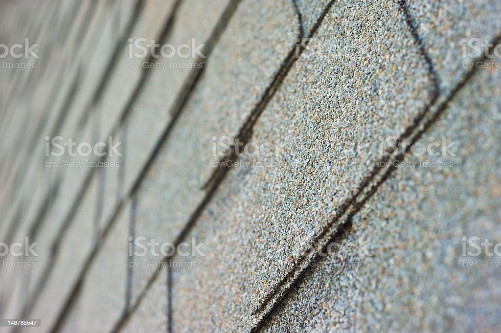 Diagonal Roof Shingles stock photo