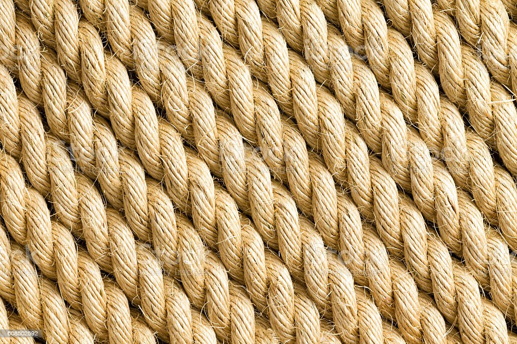 Diagonal strands of rope as background stock photo