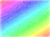 diagonal stripes of thick paint in rainbow colors