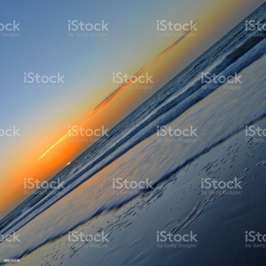Diagonal Sunset stock photo