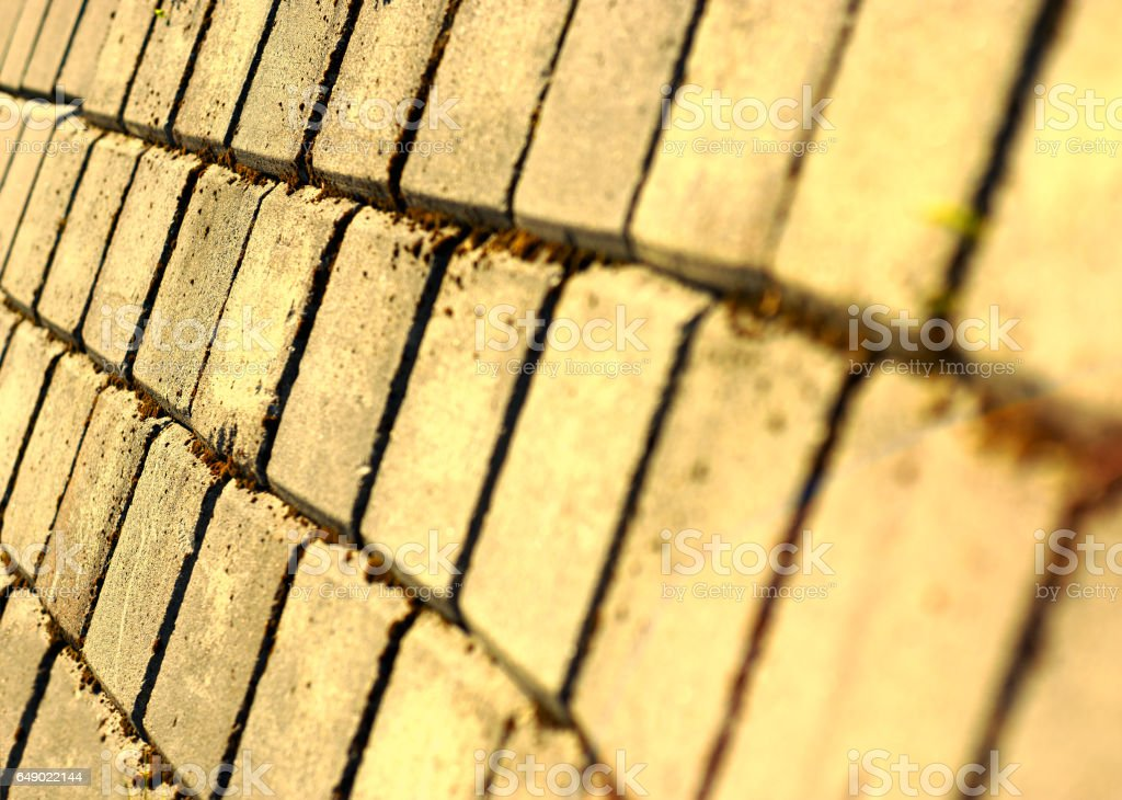 Diagonal warm pavement texture background stock photo