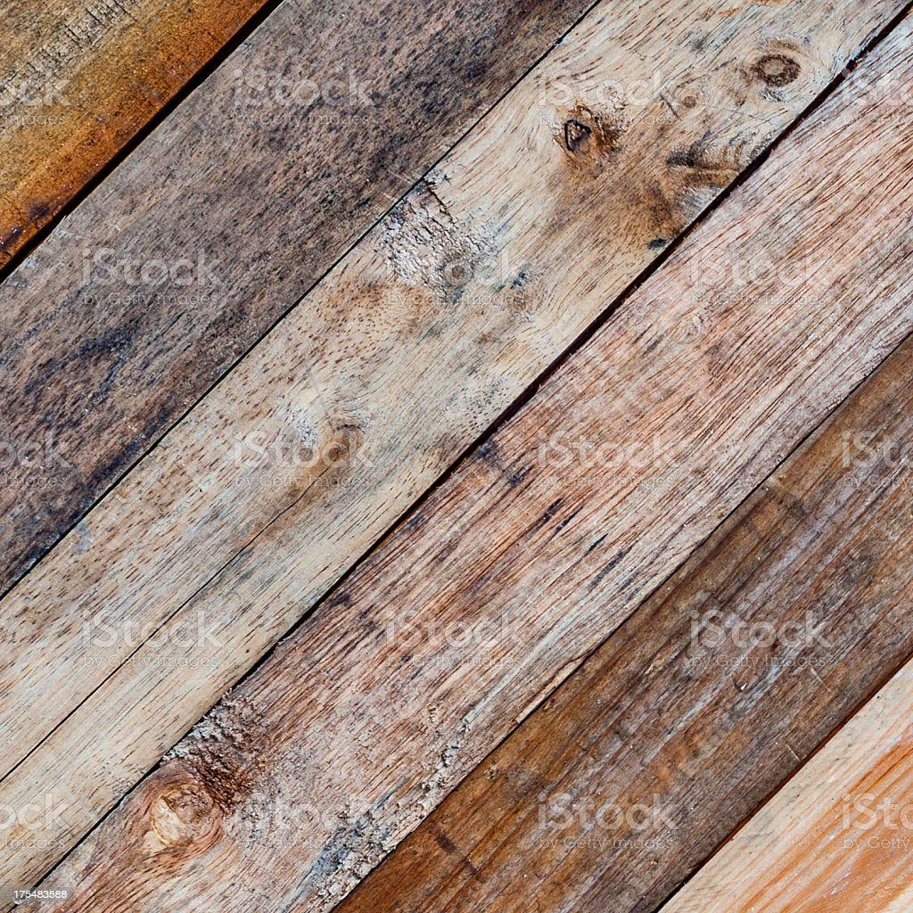 Diagonal Wooden Board Background stock photo