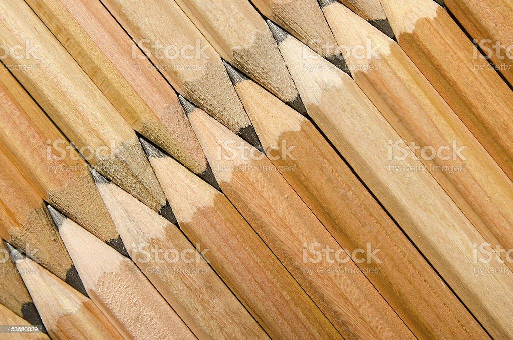 diagonal wooden pencils royalty-free stock photo