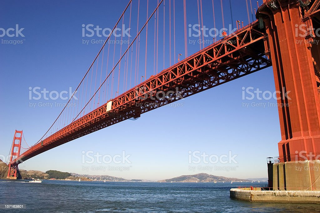 Diagonally Golden Gate Bridge, San Francisco royalty-free stock photo