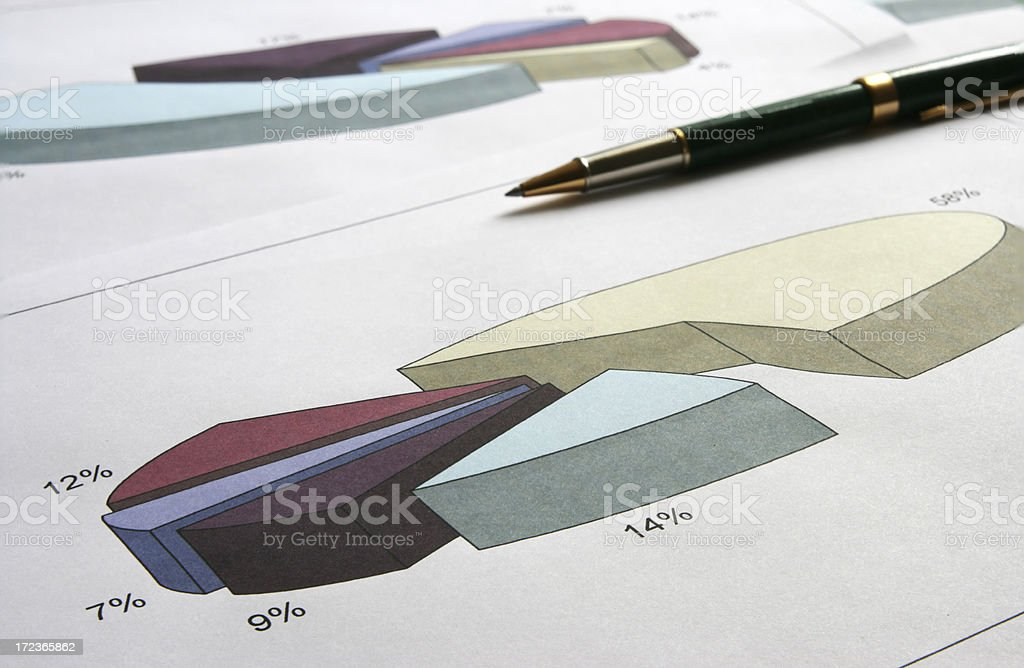 diagram and pen royalty-free stock photo