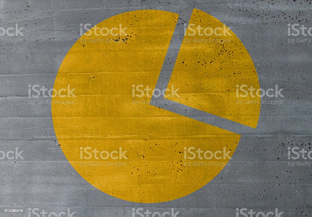 diagram concept on cement texture background stock photo