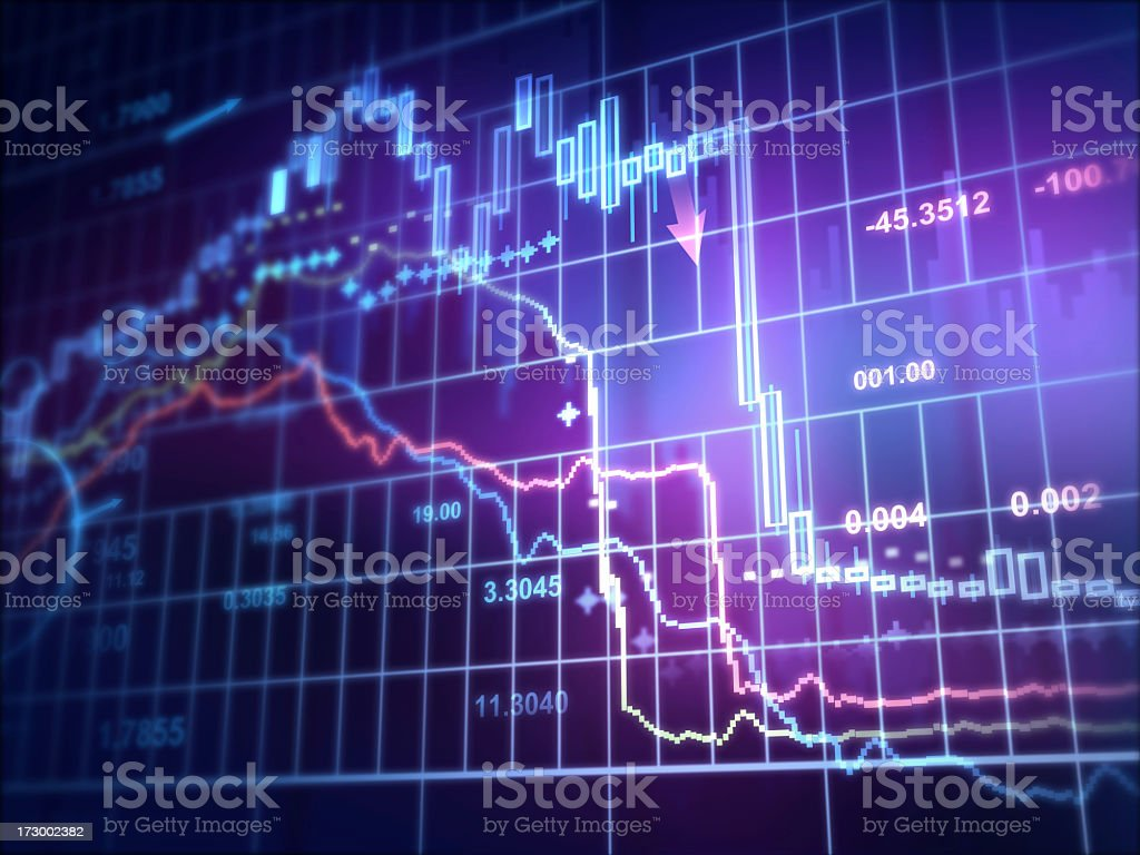 Diagram foreign exchange trader royalty-free stock photo