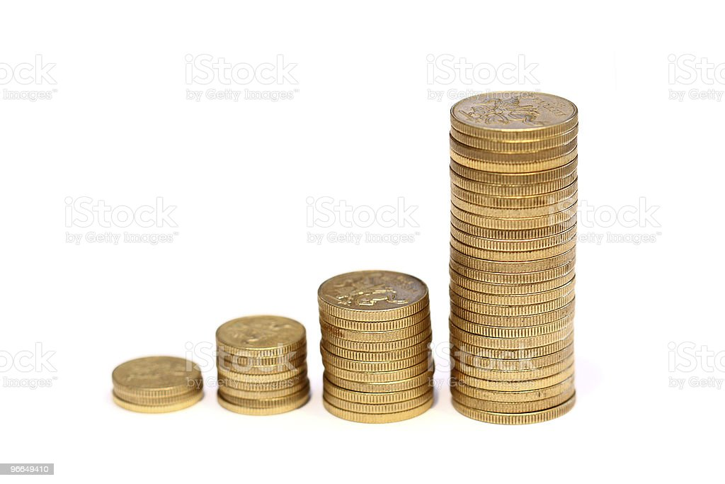 Diagram of golden coins royalty-free stock photo