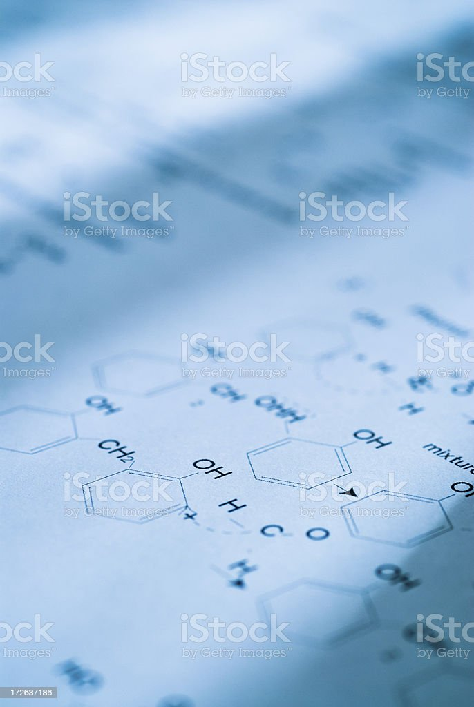 Diagram of Molecular Structures royalty-free stock photo
