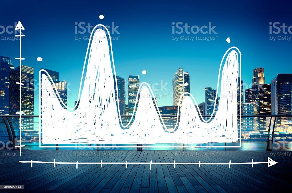 Diagram Parabola Investment Equation Graph Concept stock photo