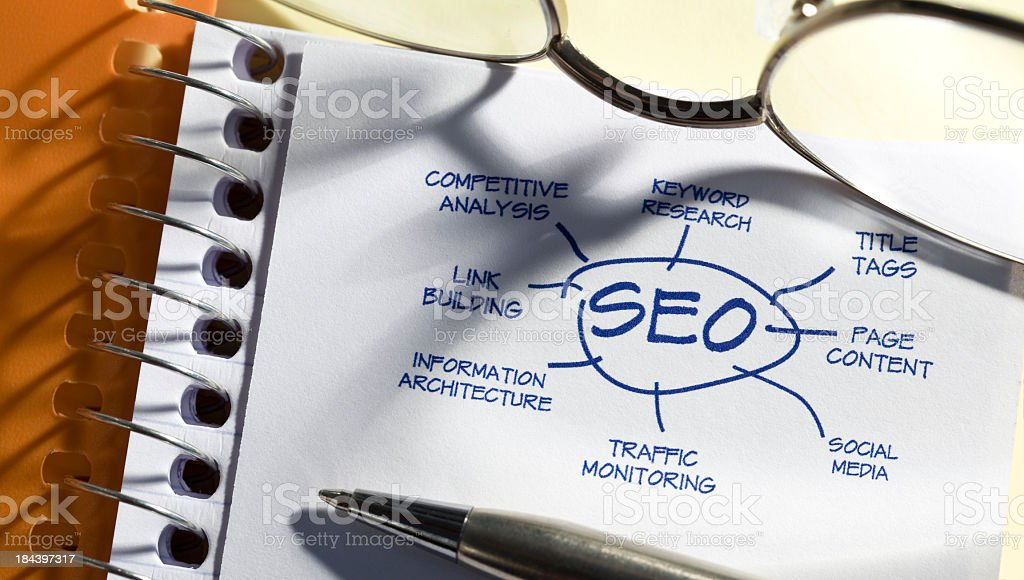 SEO Diagram royalty-free stock photo