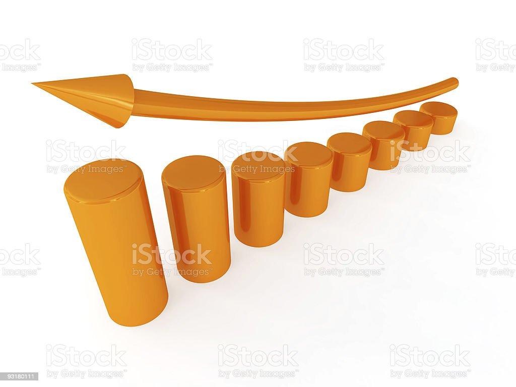 diagram with arrow royalty-free stock photo