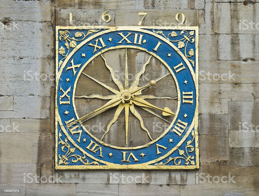 Dial of the old clock. Cambridge royalty-free stock photo