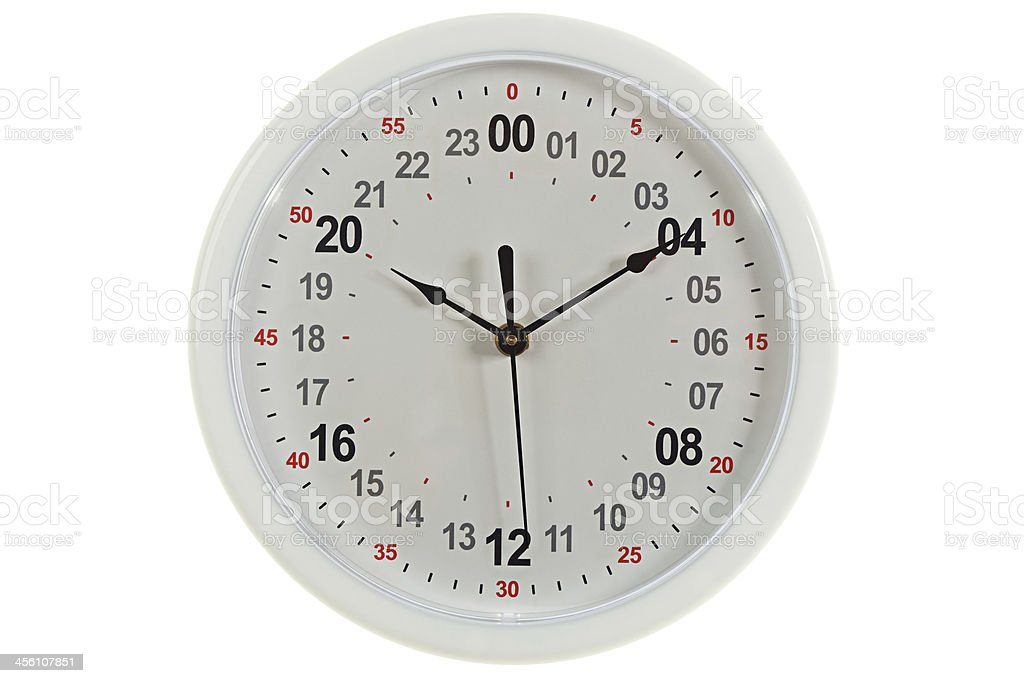24 H Dial wall clock stock photo