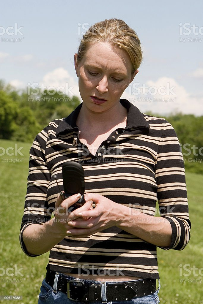 Dialing, Frustrated stock photo