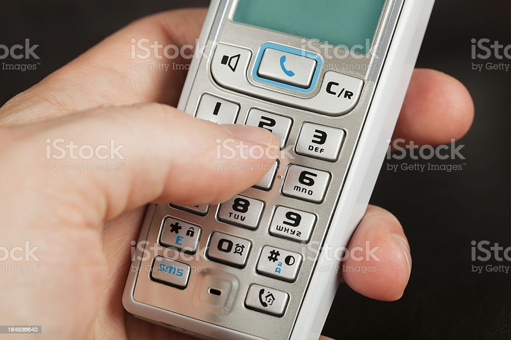 Dialing number royalty-free stock photo