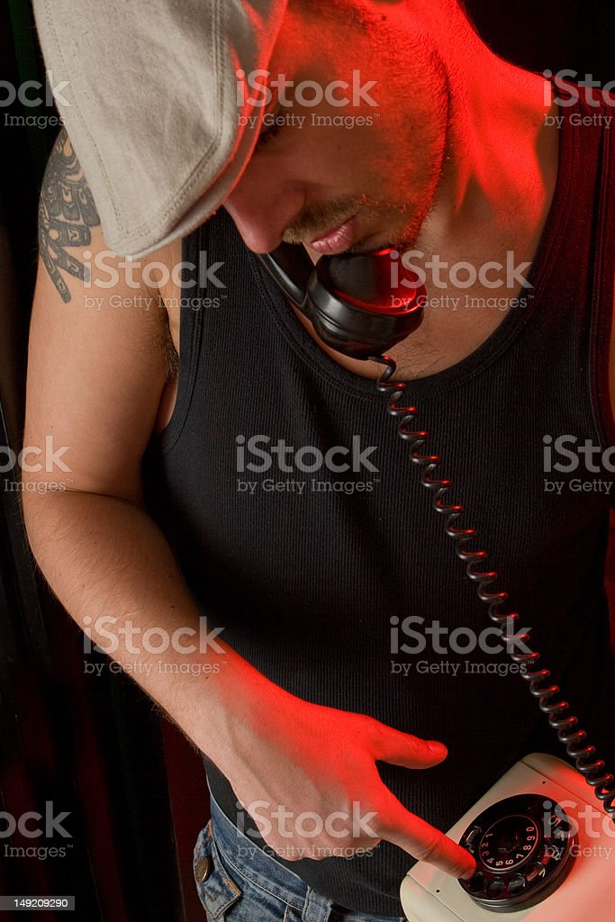 Dialing stock photo