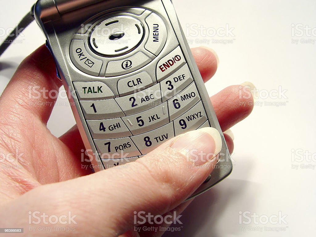 Dialing the Cellular stock photo