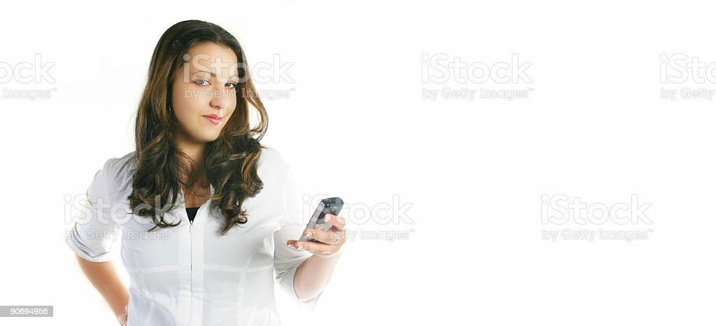 Dialing your number! stock photo