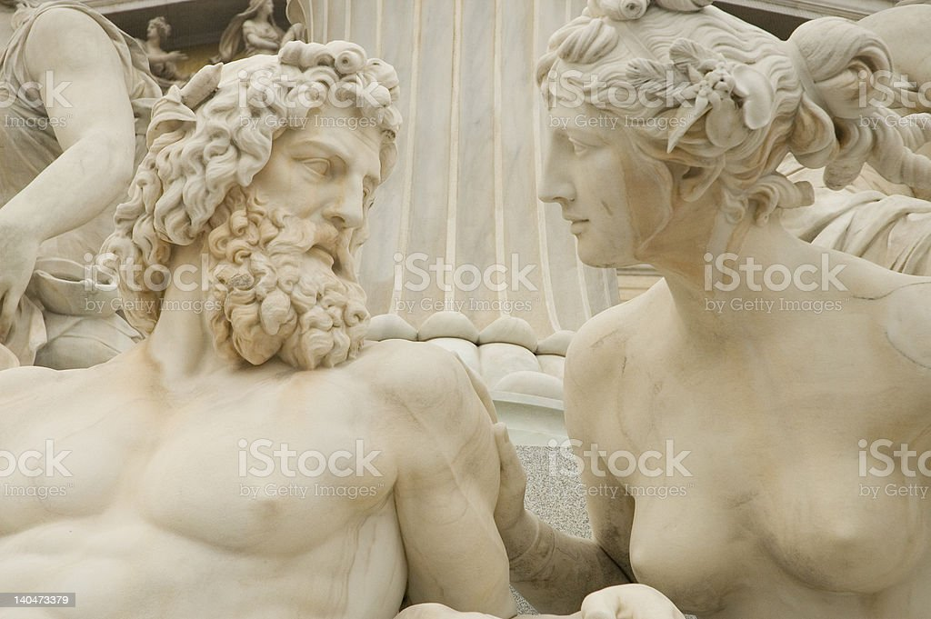 Dialoque between man and woman royalty-free stock photo