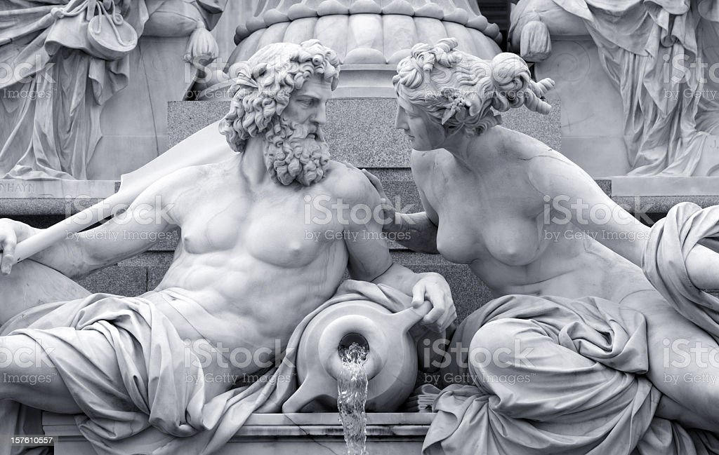 dialoque of man and woman stock photo