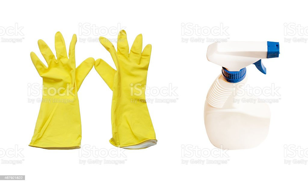Dial-up for cleaning of home subjects stock photo