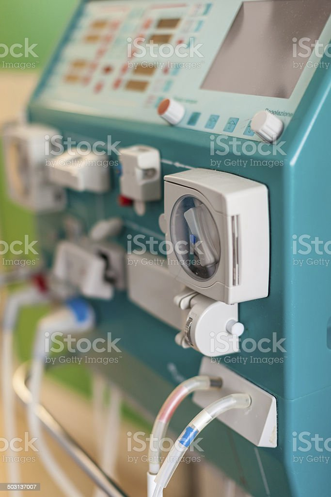 Dialysis in hospital stock photo