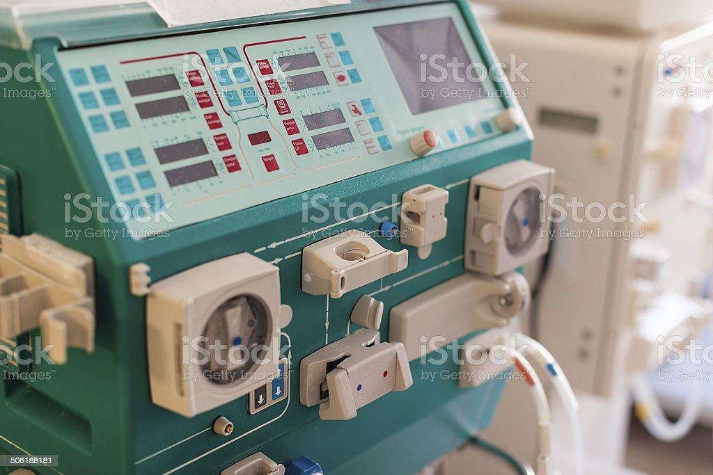 Dialysis machine stock photo