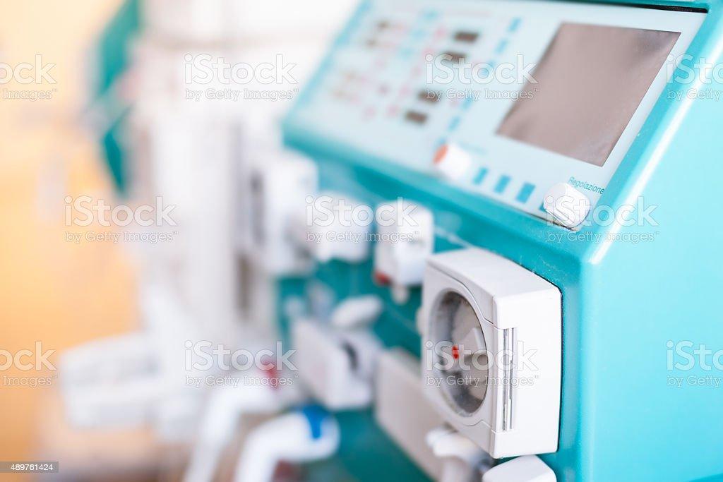 Dialysis machinery stock photo
