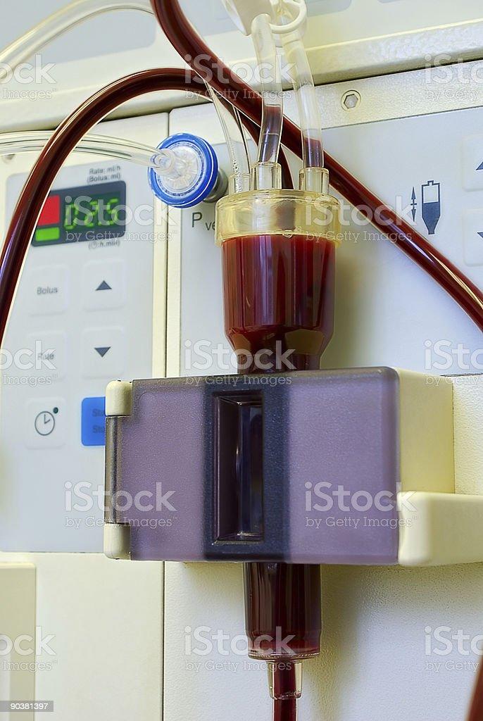 Dialysis mashine in work royalty-free stock photo