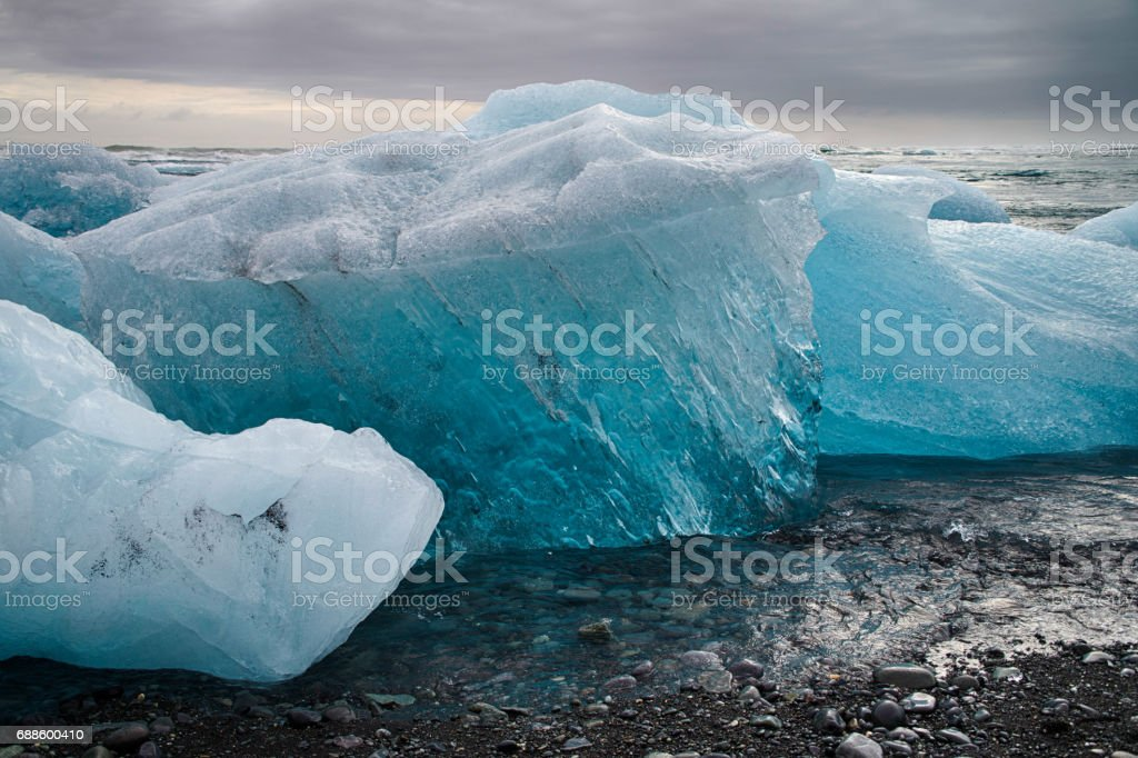 Diamon beach in Iceland stock photo