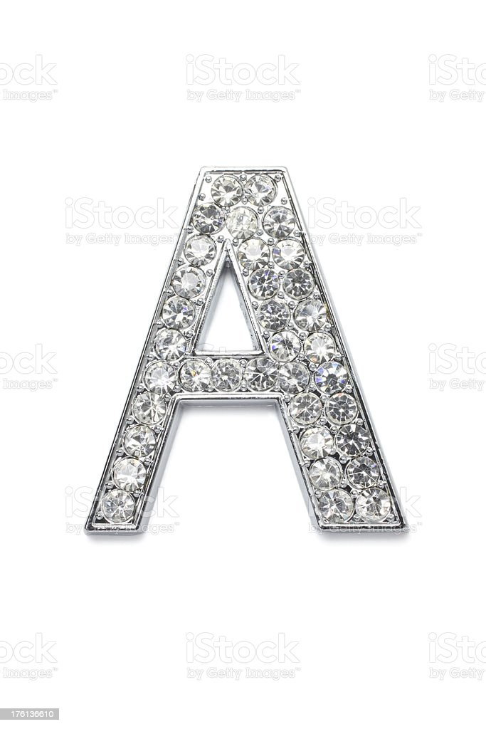 Diamond Alphabet A stock photo