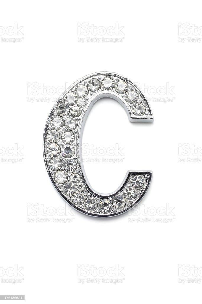 Diamond Alphabet C royalty-free stock photo