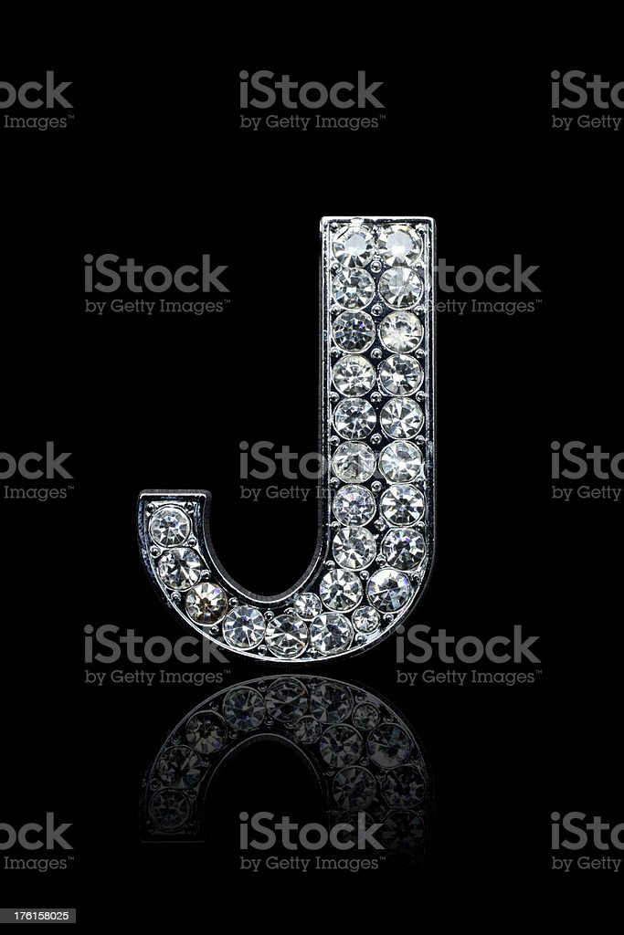 Diamond Alphabet J royalty-free stock photo