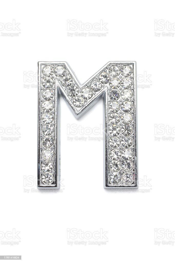Diamond Alphabet M royalty-free stock photo