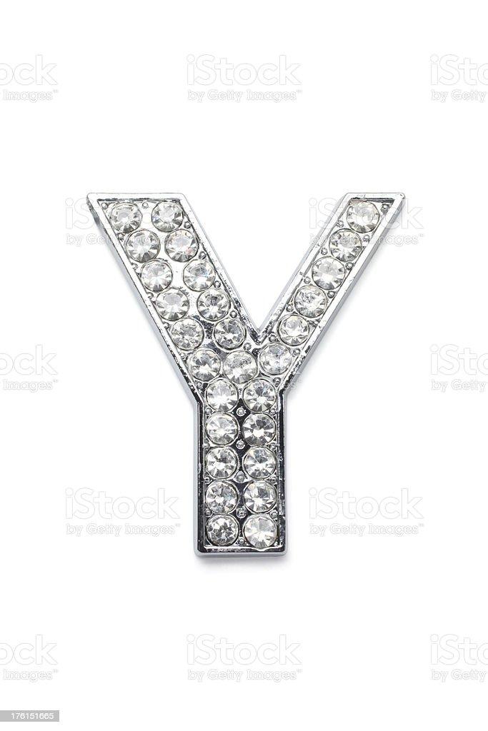 Diamond Alphabet Y royalty-free stock photo