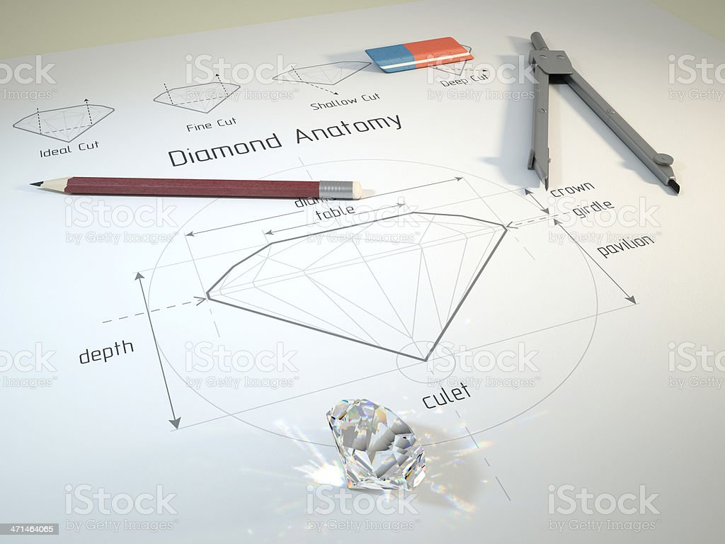 Diamond Anatomy royalty-free stock photo
